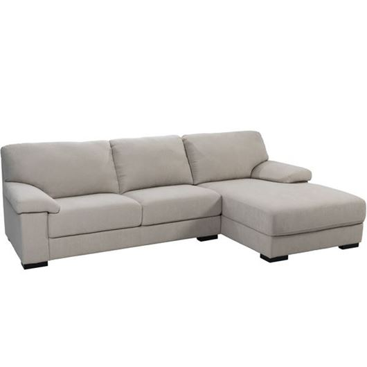 Picture of SAN sofa 2.5 + chaise lounge Right natural