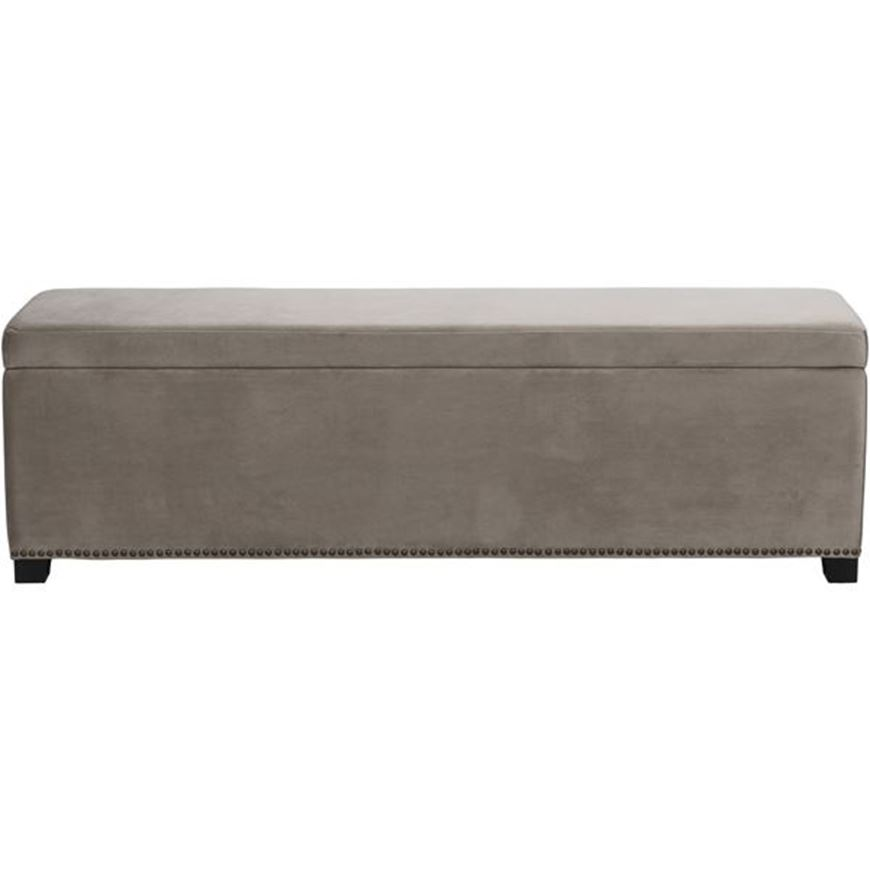 Picture of REST stool 160x40 microfibre taupe