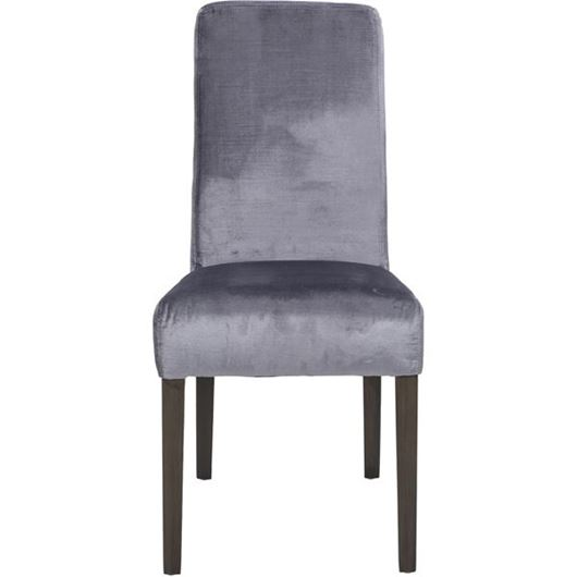 Picture of REBECA dining chair silver/grey brown