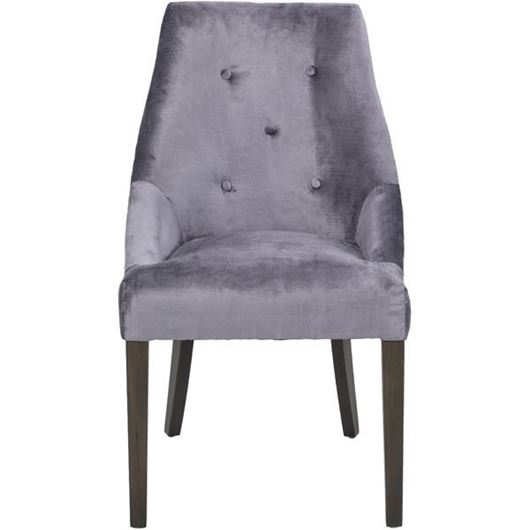 Picture of GRINGO dining chair silver/grey brown