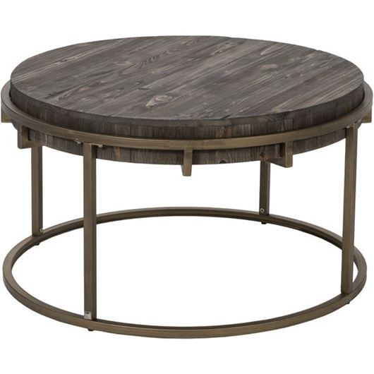 Picture of PAVS coffee table d81cm grey/gold
