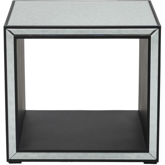 Picture of JIM side table 61x51 clear/black