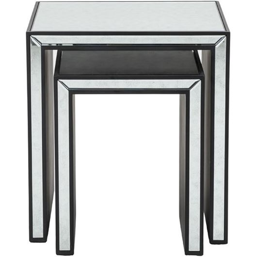 Picture of JIM nesting table set of 2 clear/black