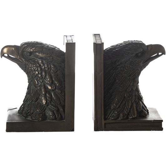 Picture of AMYNTAS bookends h17cm set of 2 copper
