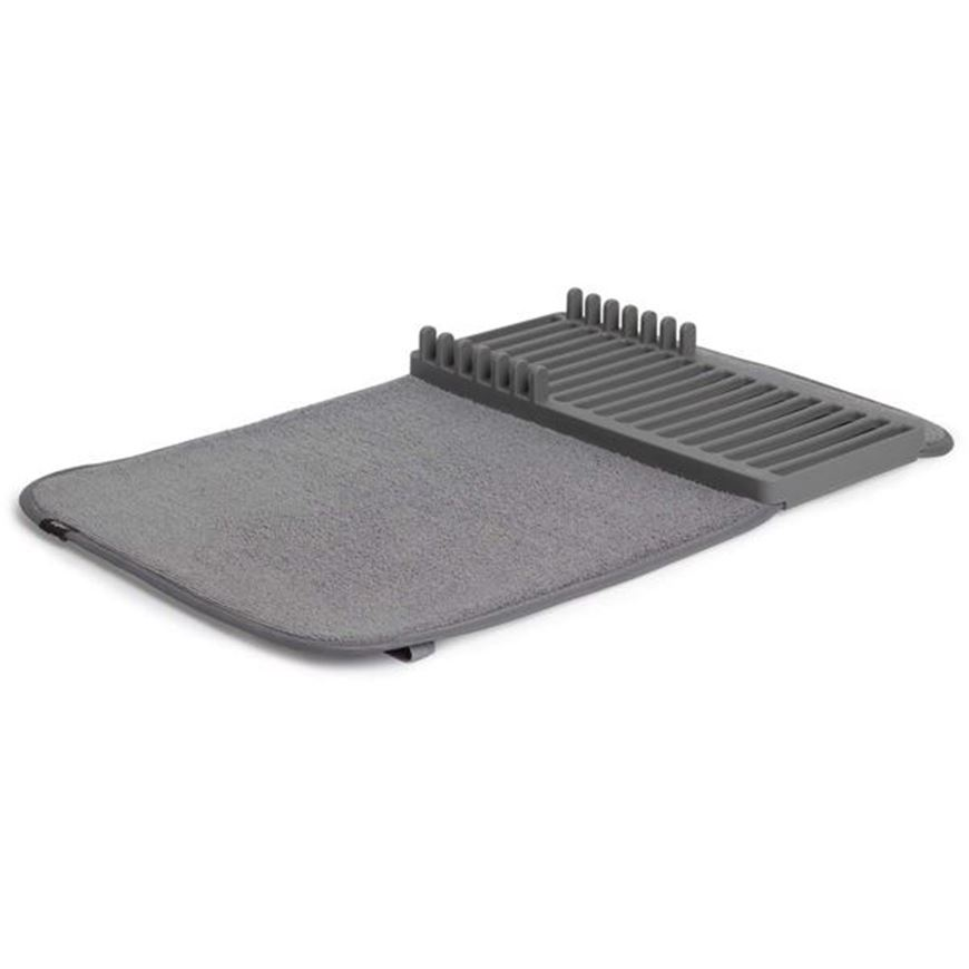 Picture of UDRY mini dish rack & drying mat dark grey