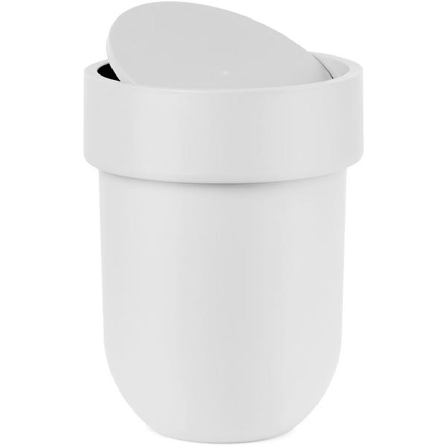 Picture of TOUCH waste can with lid white