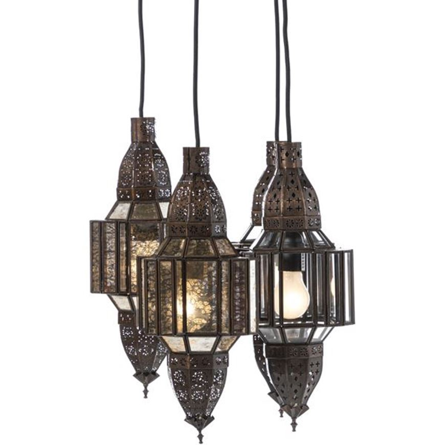 Picture of QASIMIA pendant lamp 20x20 clear/copper