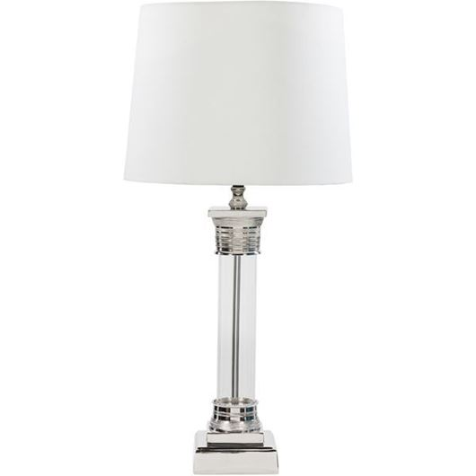 Picture of BERT table lamp h84cm white/nickel