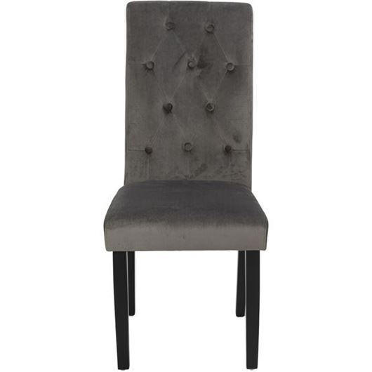 Picture of KORA dining chair grey/black