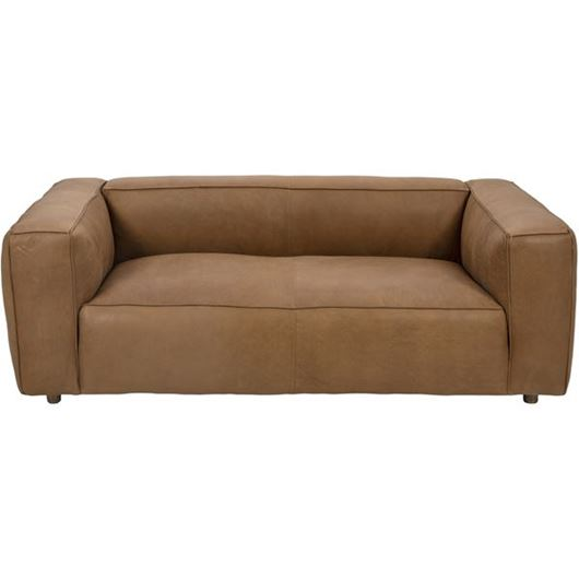 Picture of HOGARTH sofa 2.5 leather brown
