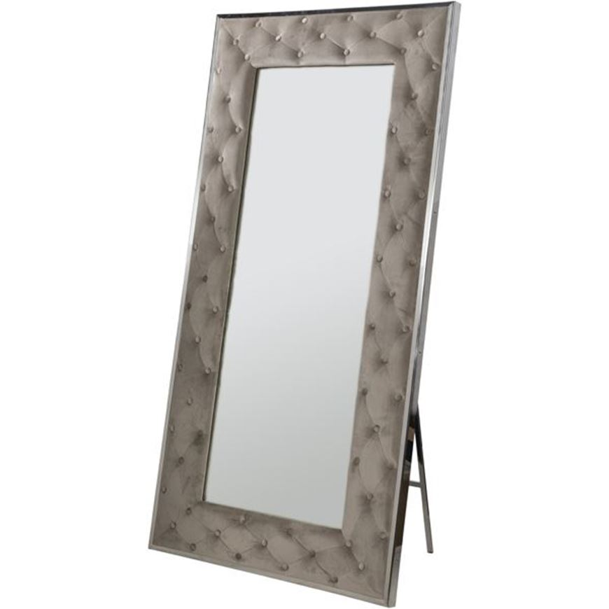 Picture of STABIL floor mirror 200x100 microfibre taupe