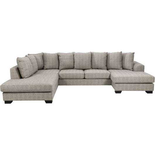 Picture of KINGSTON sofa U shape Left brown