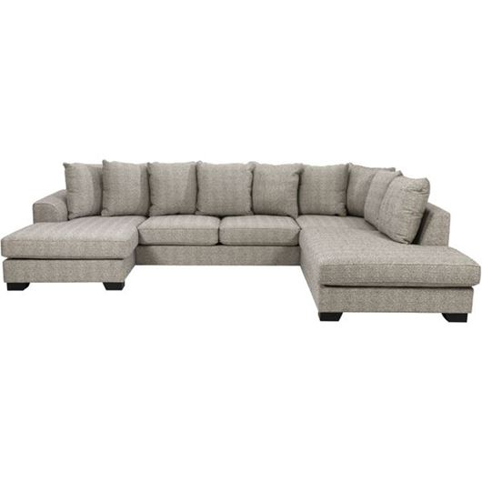 Picture of KINGSTON sofa U shape Right brown