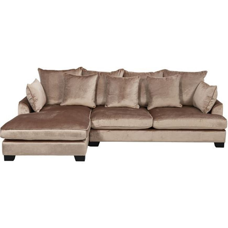 Picture of PORTO sofa 2.5 + chaise lounge Left pink