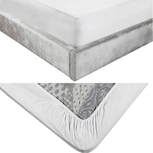 Picture of ALIA fitted sheet 180x200+39 white