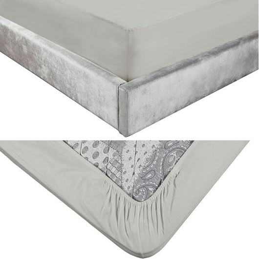 Picture of ALIA fitted sheet 180x200+39 grey