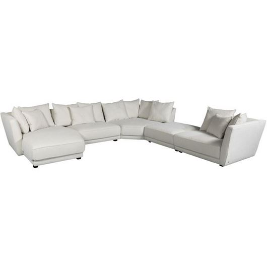 SCARLETT sofa U shape Left cream