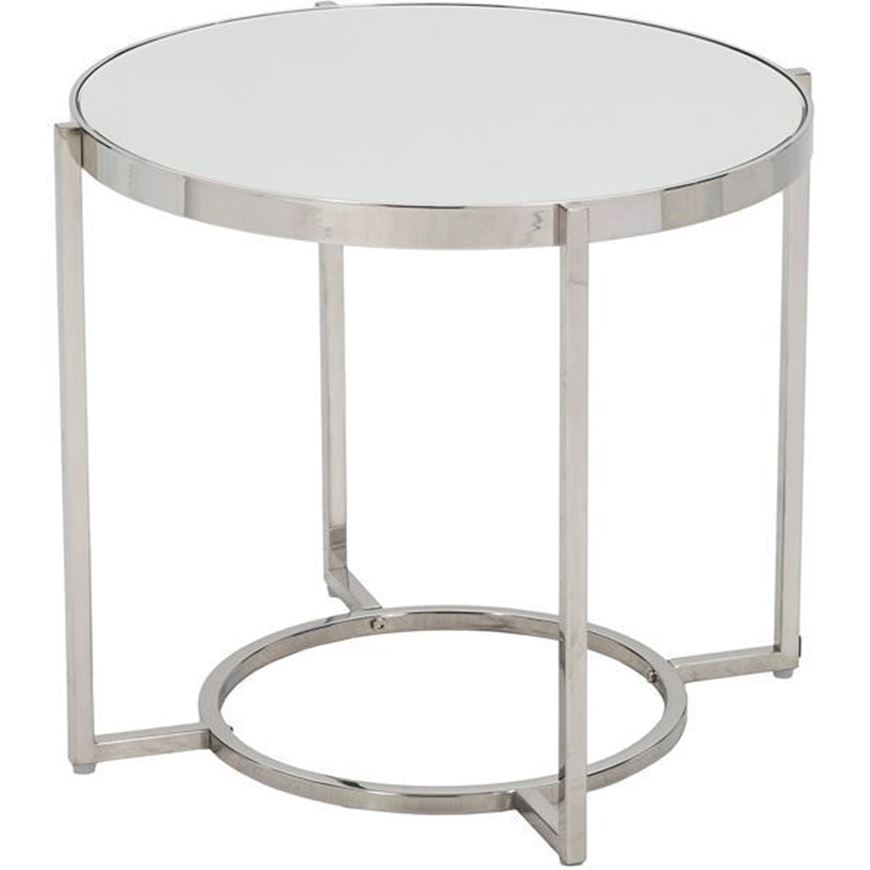 Picture of ALICE side table d53cm clear/stainless steel
