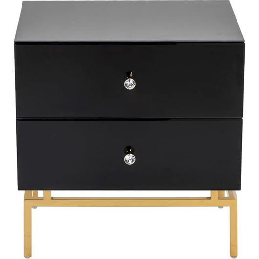 Picture of THEA bedside table black/gold