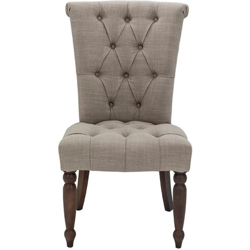 Picture of SERA dining chair taupe/light brown