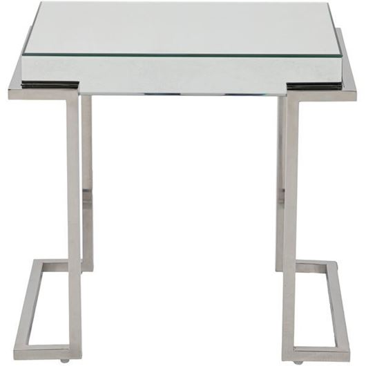 Picture of LUCA side table 59x42 clear/stainless steel