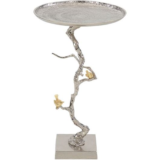 Picture of BRANCHY side table d43cm silver