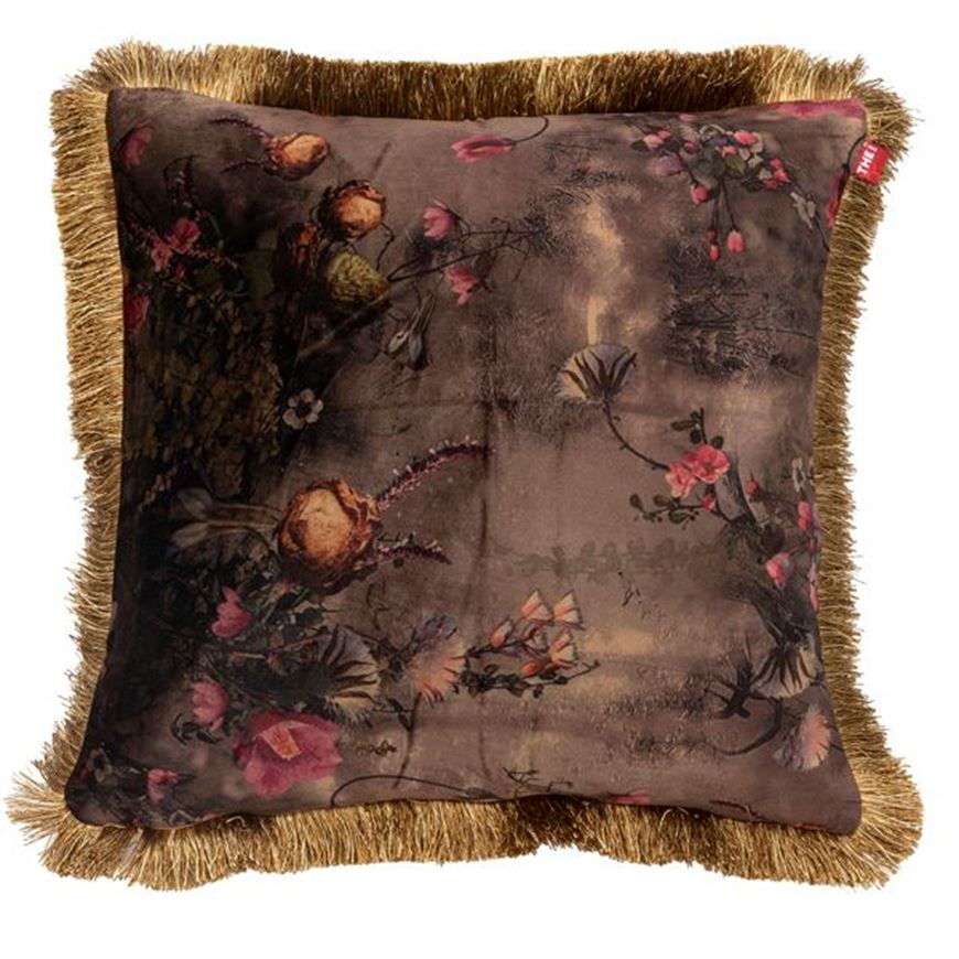 Picture of FLORA cushion cover 45x45 brown