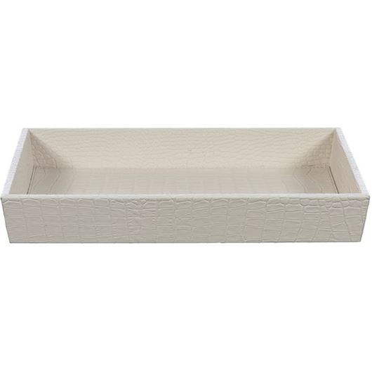 Picture of CROCO tray 36x23 beige