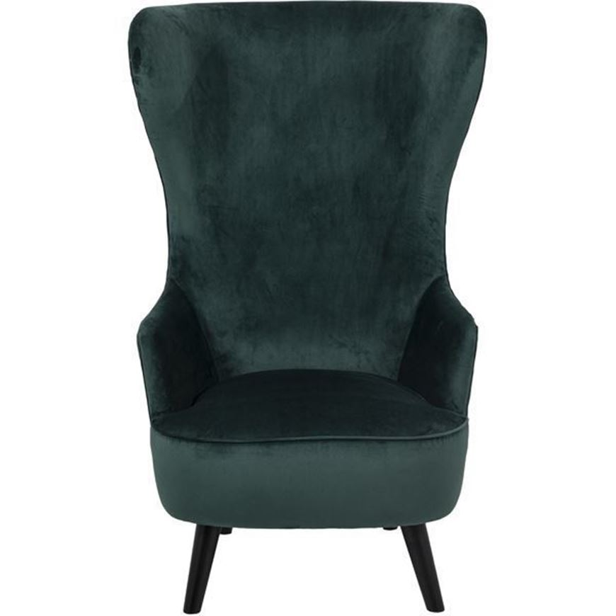 ALTEZ wing chair microfibre green