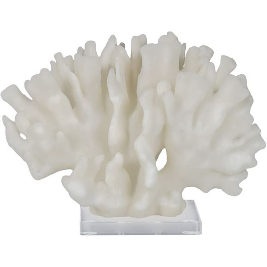 RIMI coral decoration h21cm white