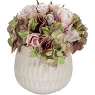 FLORAL arrangement h27cm pink/cream