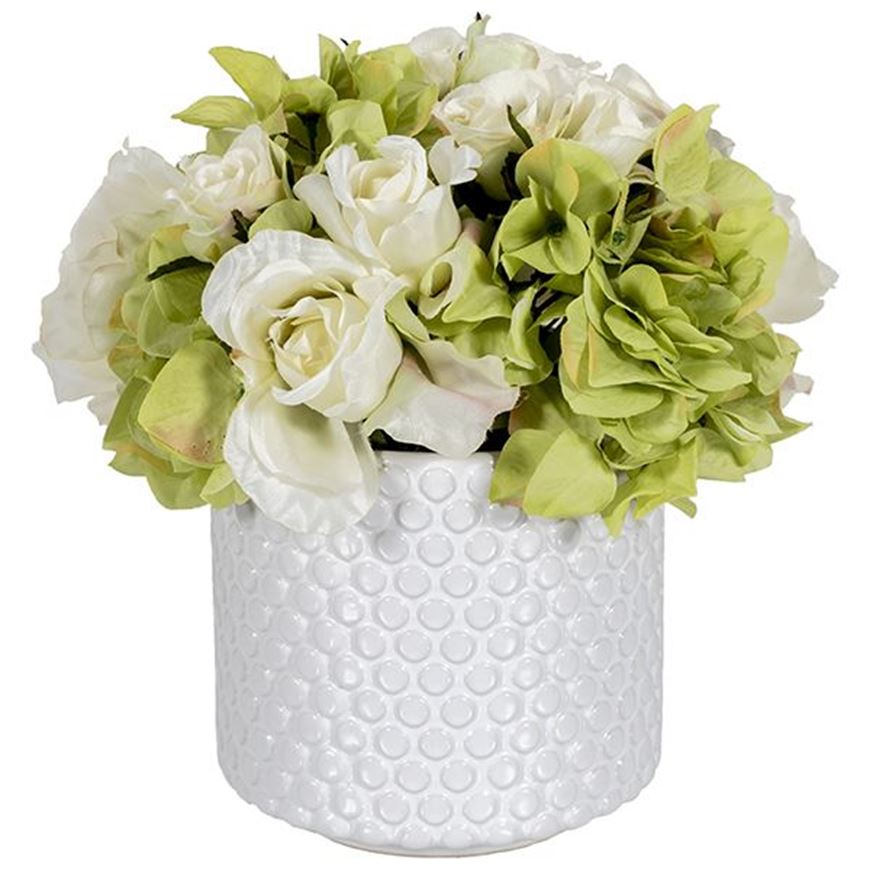 FLORAL arrangement h25cm white/white
