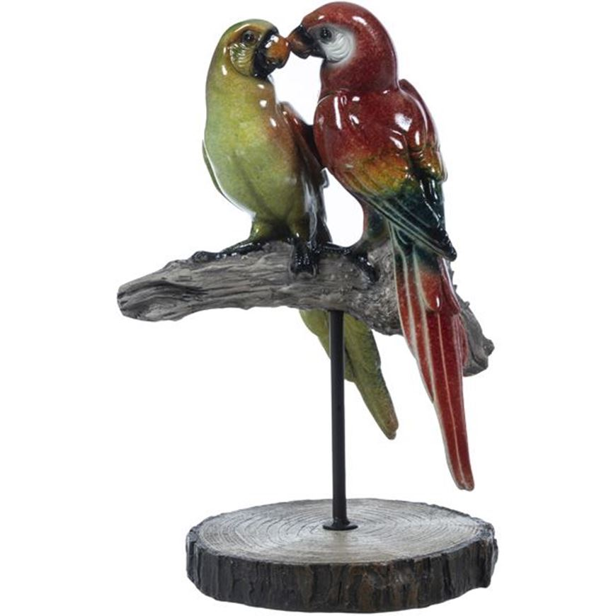 Picture of MACAW decoration h28cm multicolour