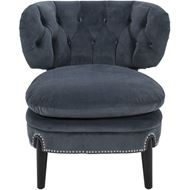PUFF armchair microfibre dark grey