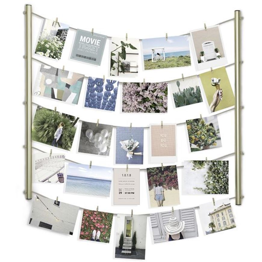 Picture of HANGIT photo holder brass