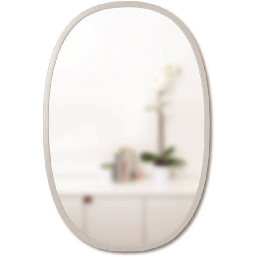 Picture of HUB mirror oval 61x91 grey