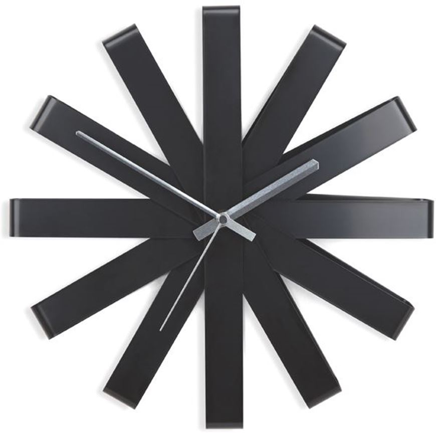 Picture of RIBBON clock d31cm black