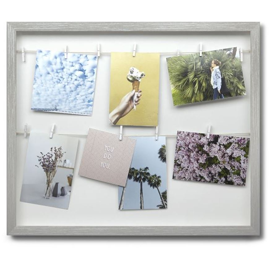Picture of CLOTHESLINE photo holder grey