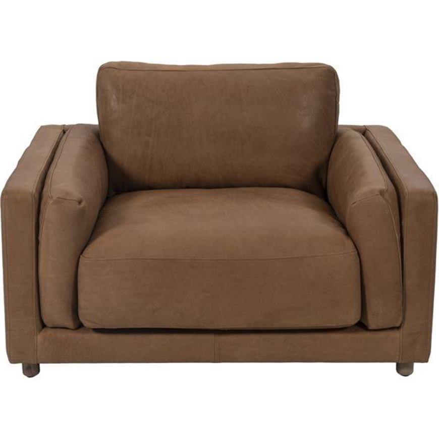 BUTTER chair 1.5 leather brown