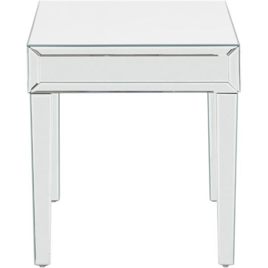 KIWIN side table 50x50 clear