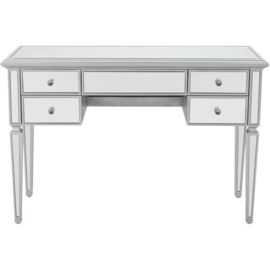 VANE dressing table 120x42 clear/silver
