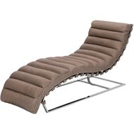 COSTELLO chaise leather taupe