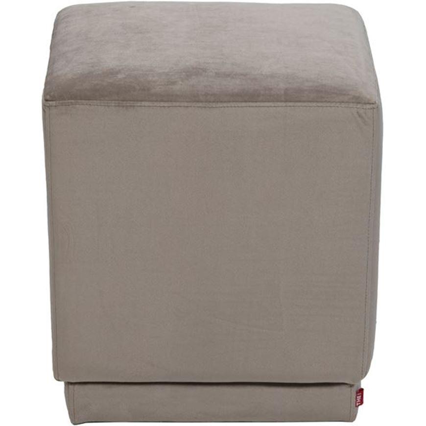 CUBE stool 40x40 microfibre taupe