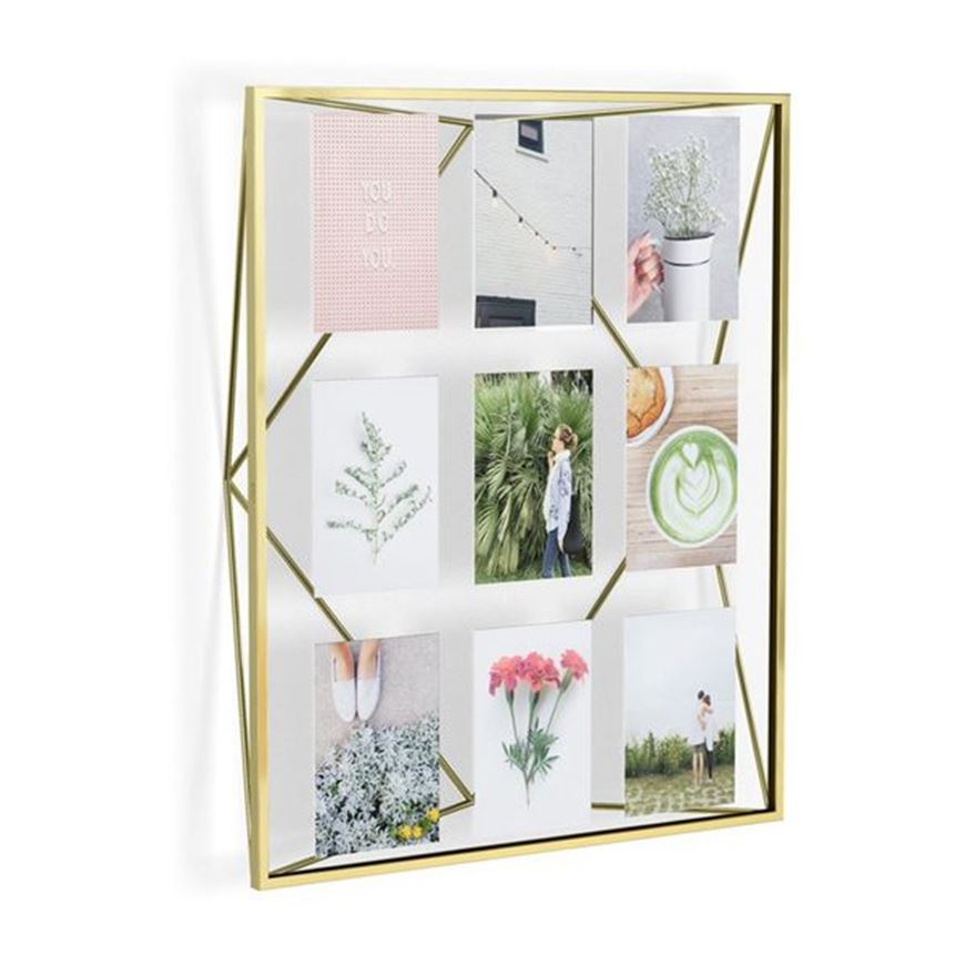 Picture of PRISMA photo holder 10x15/9 brass