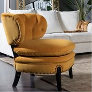 PUFF armchair microfibre yellow