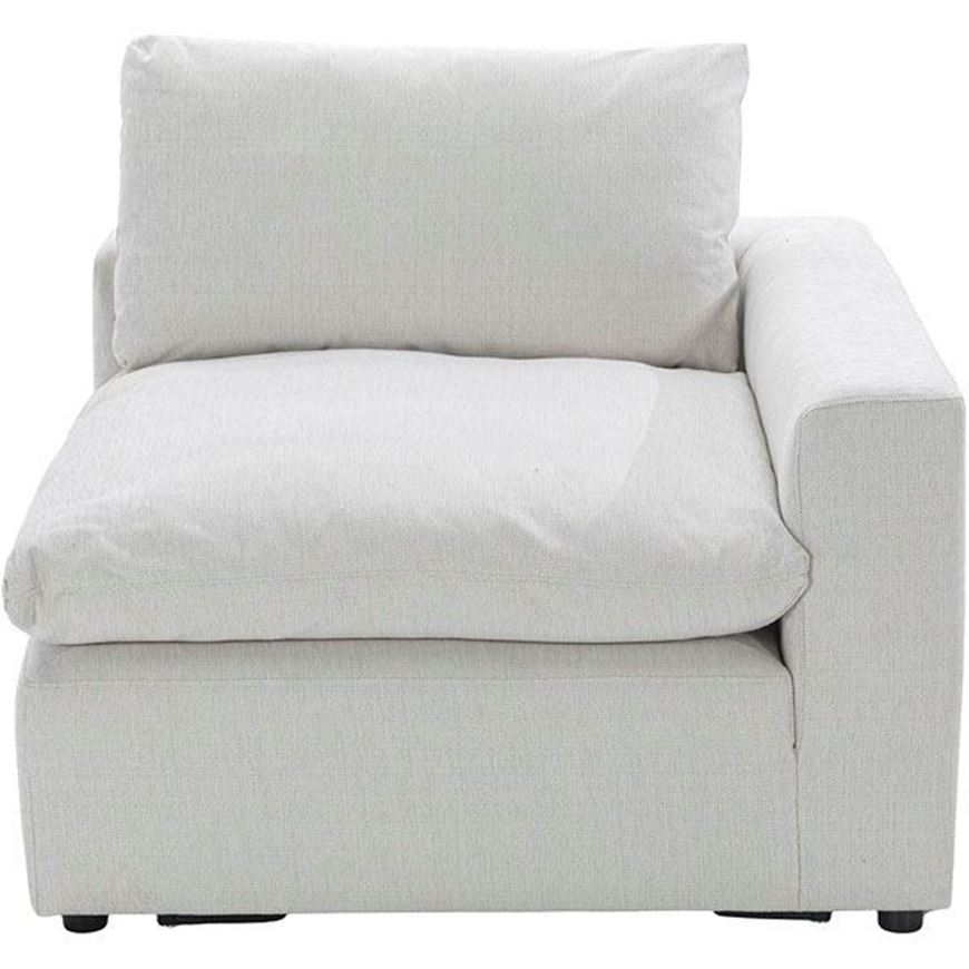 MOONLIGHT chair with Right arm white