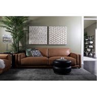 BUTTER sofa 3.5 leather brown