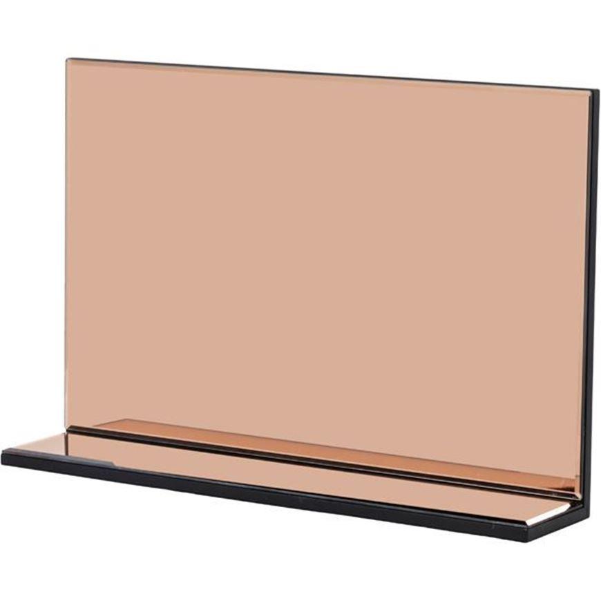 L SHAPE mirror 60x40 pink