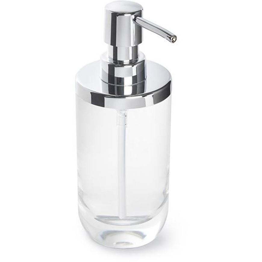 JUNIP soap pump clear/stainless steel