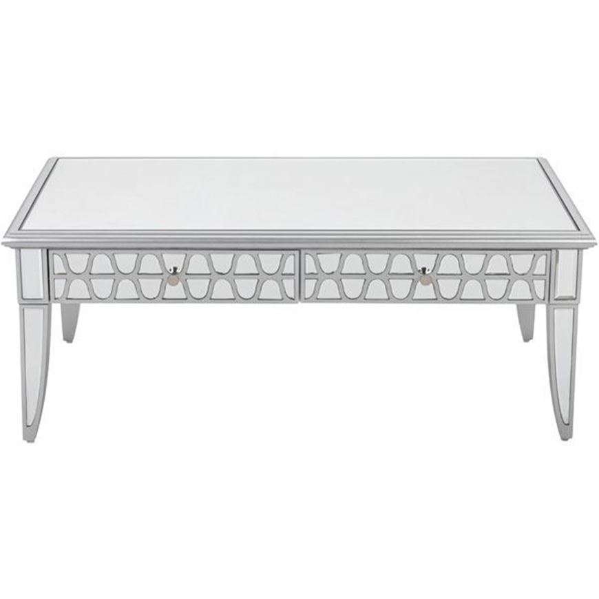 MIAKI coffee table 120x60 clear/silver